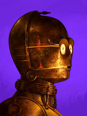 Star Wars C-3PO Portrait Print by Mike Mitchell x Mondo