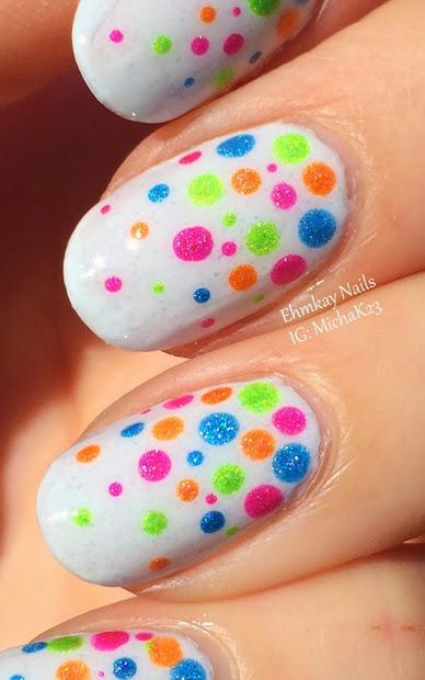 ehmkay nails easter egg dots