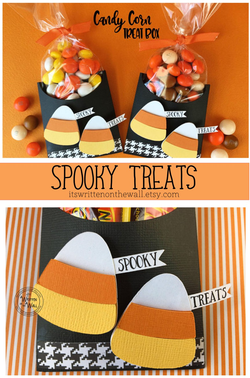 it's written on the wall: check out our new halloween candy corn
