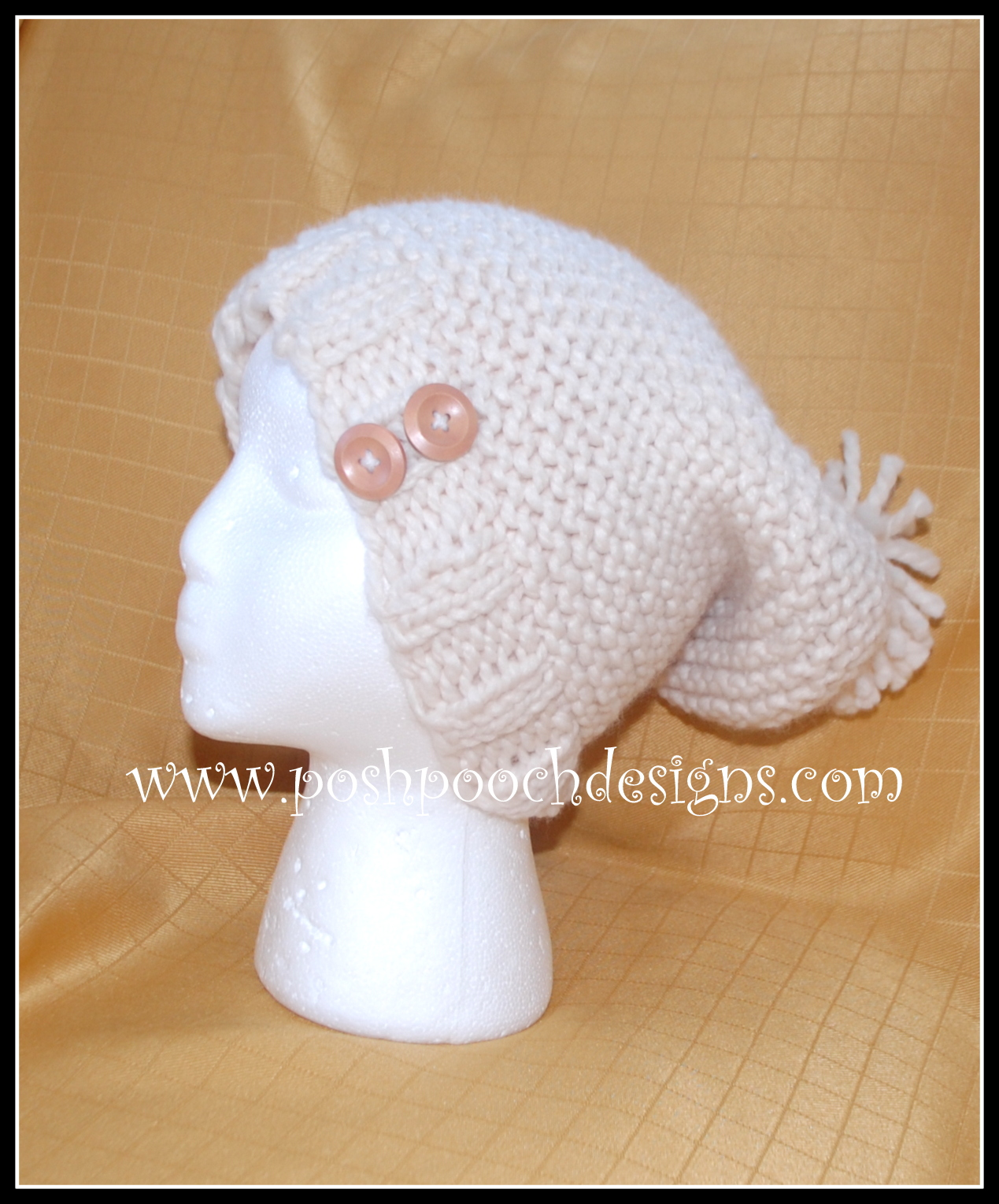 Posh Pooch Designs Dog Clothes: Aran Chunky Slouchy Hat Free