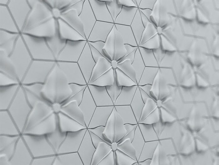 3D decorative wall panels from fiber and cement