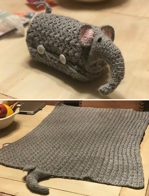 Elephant Baby Blanket - Free Pattern