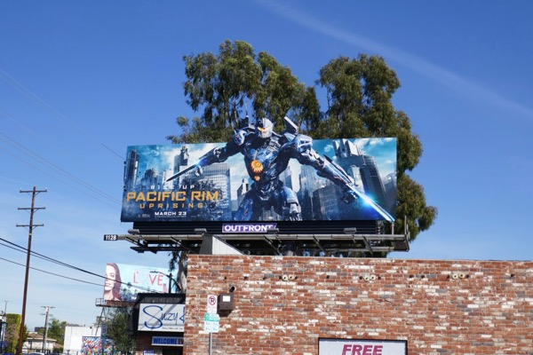 Pacific Rim Uprising cut-out billboard