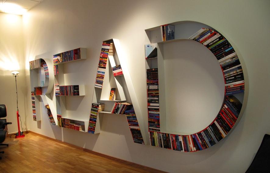 Prateleiras super criativas para seus livros