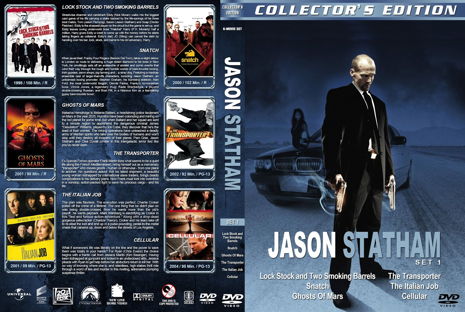 Jason Statham Collection Set 1-5 [Thin Spine] DVD Cover