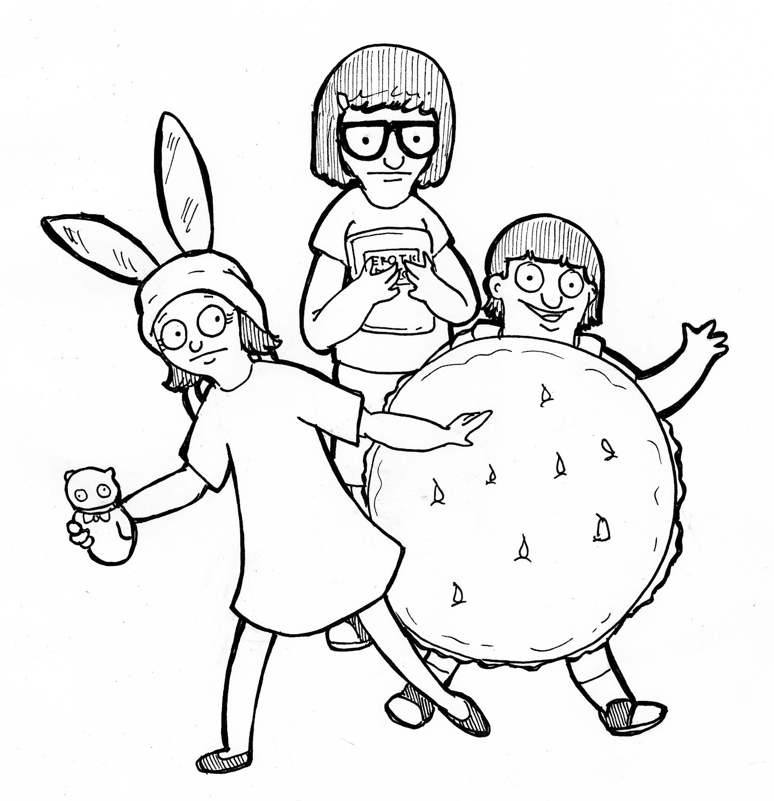 bobs burger coloring pages - photo#10