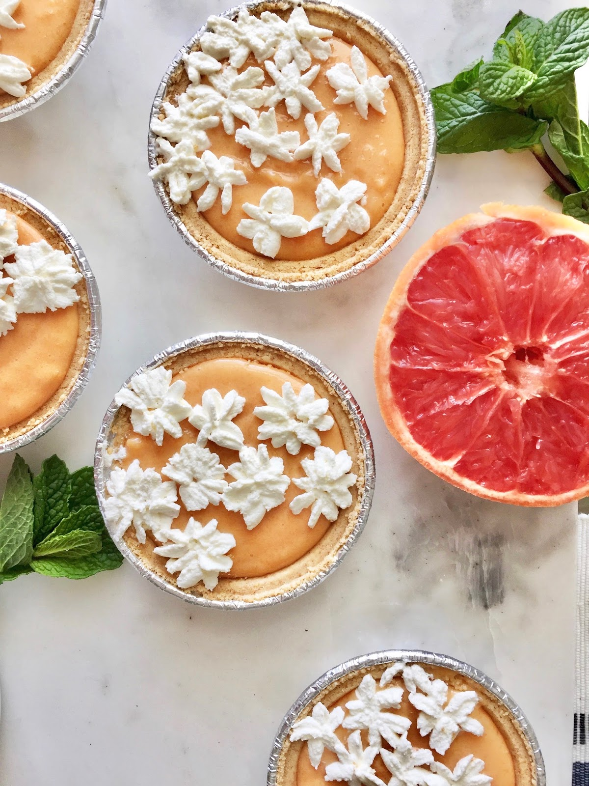No-Bake Grapefruit Mini-Tarts Recipe