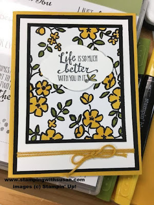Stampin' Up! Petal Palette, Life is so much better with you, Stampin' Blends