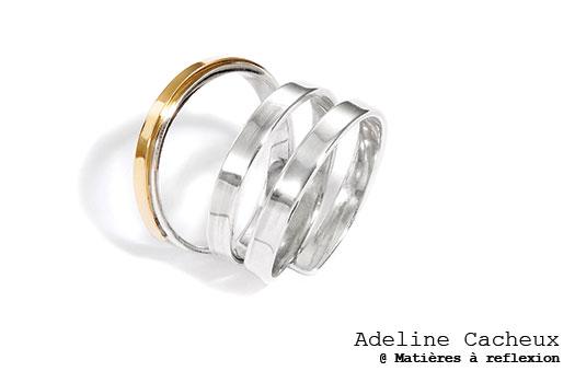 Adeline Cacheux bague XL en argent/or