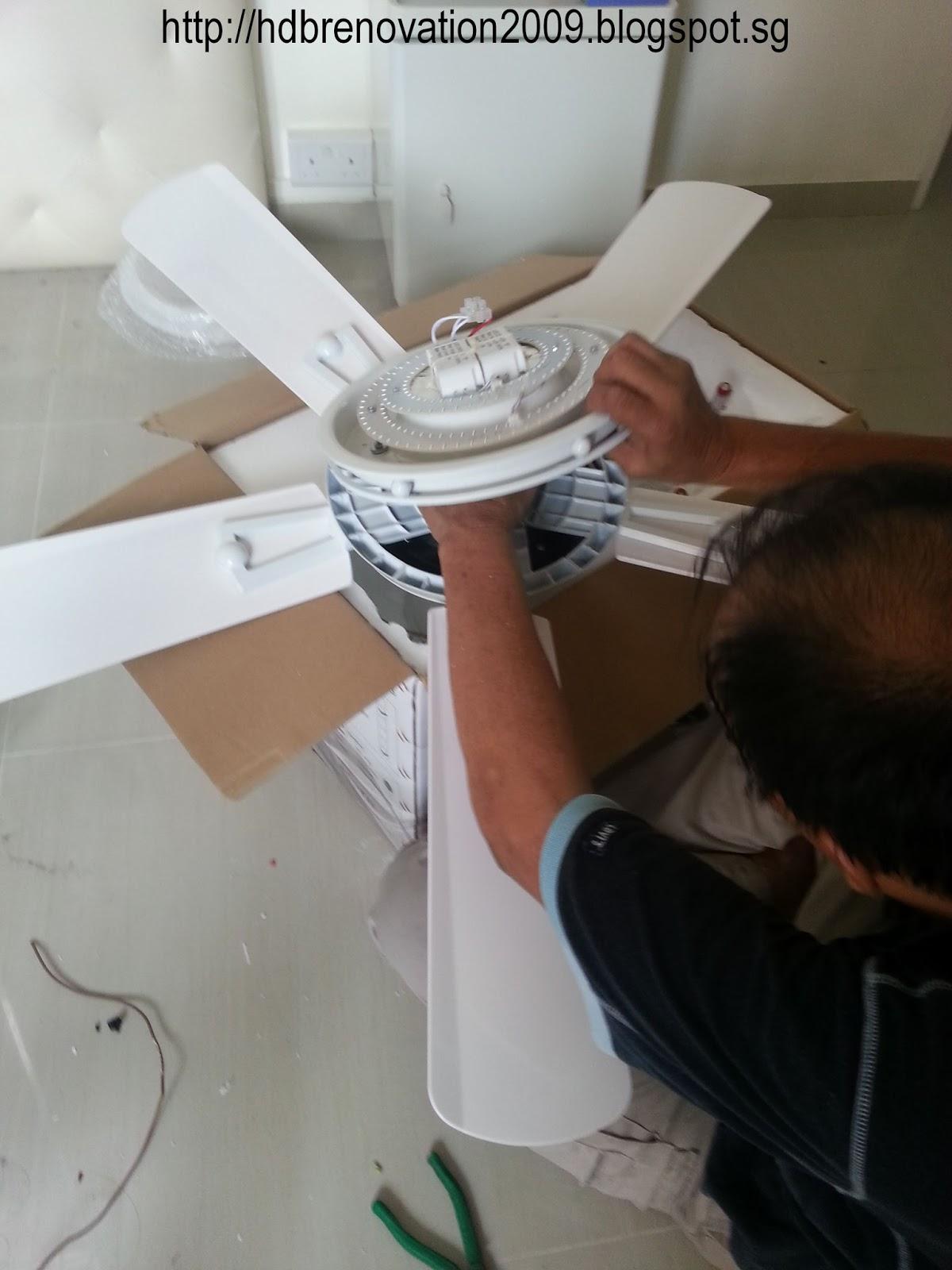 Our Hdb Flat Renovation In 2009 Ceiling Fan Installation