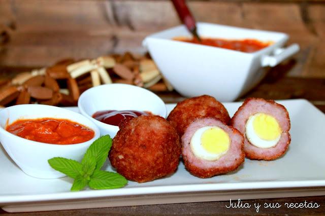 Huevos escoceses. Julia y sus recetas