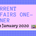 Current Affairs One-Liner: 15th January 2020