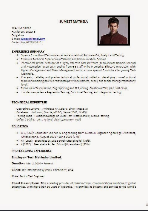 Magnificent Tcs Resume Format Sample Composition Resume Ideas