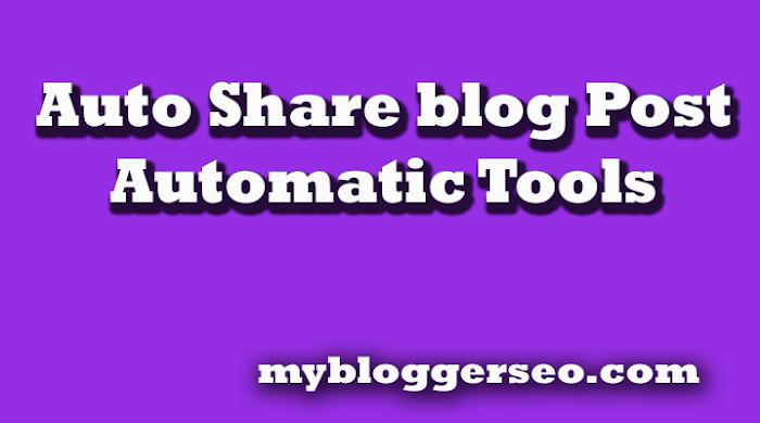 Auto share blog post social media