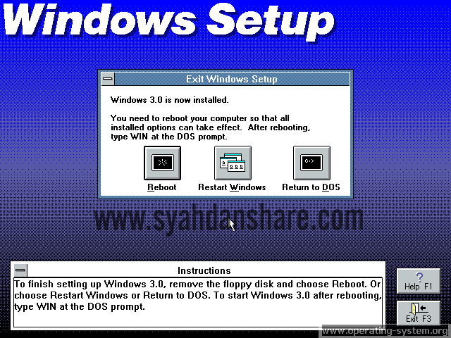 Gambar Windows Versi 3.0 by Syahdan Share