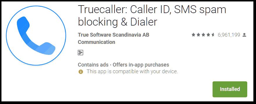 true caller dailer app