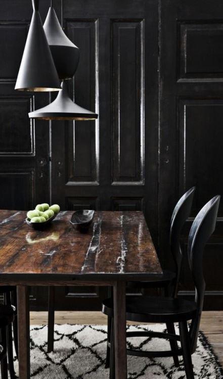 stylish black kitchen decoration