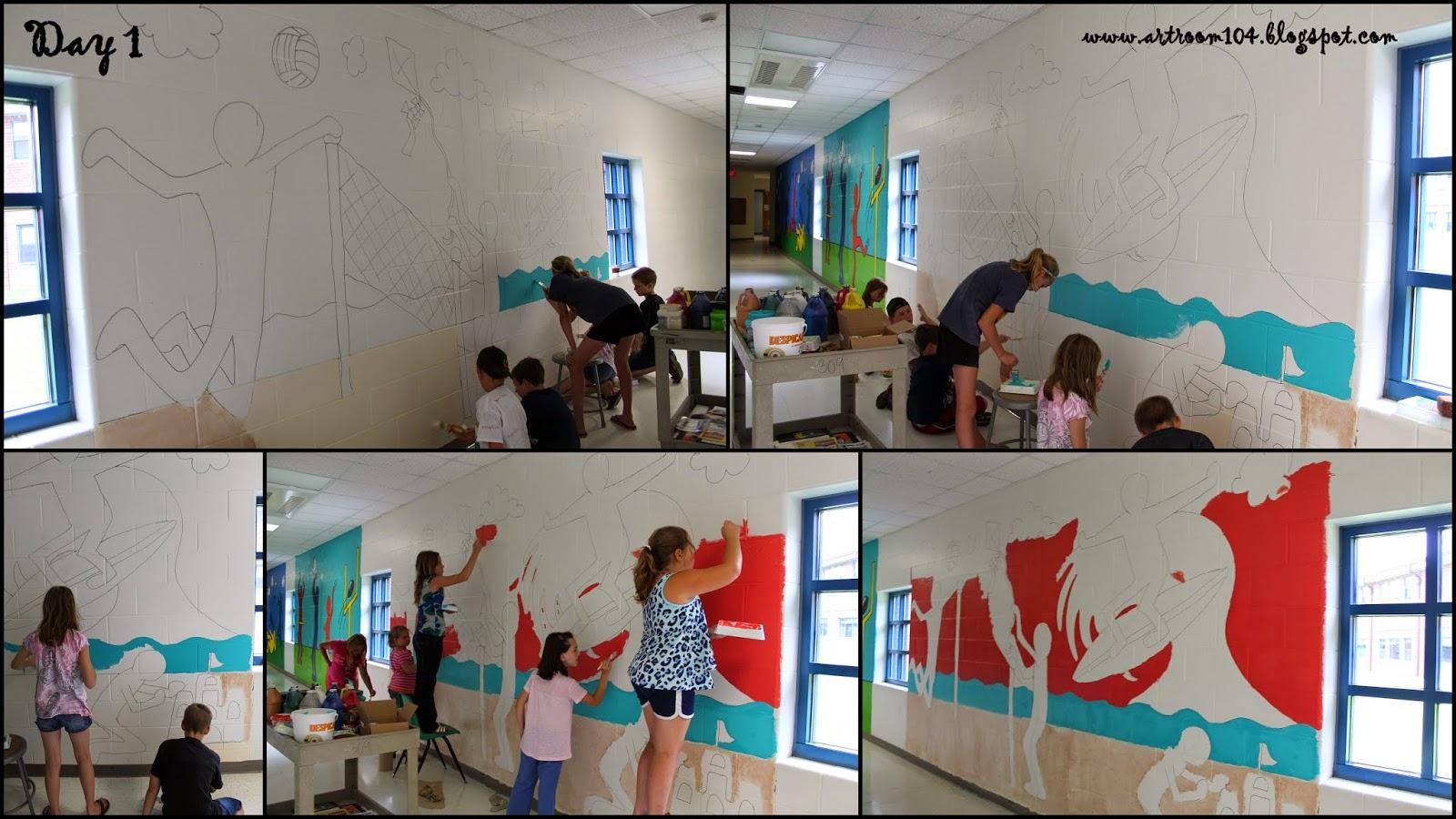Art Room 104 Summer Program Keith Haring Murals