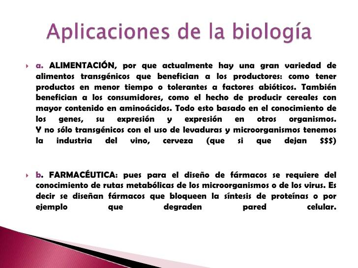Aplicación de la Biología