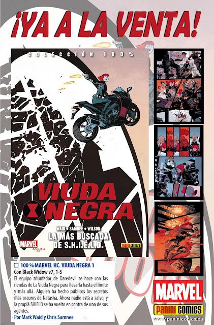 100% Marvel HC. Viuda Negra 1. La más buscada de S.H.I.E.L.D.