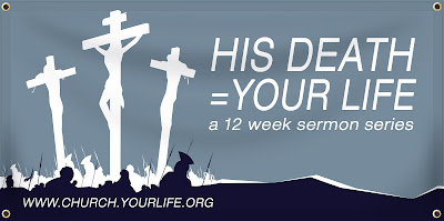 His Death = Your Life Easter Banner | Banners.com