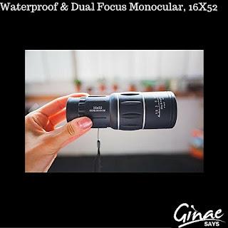 Waterproof & Dual Focus Monocular, 16X52