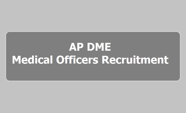 AP Medical Officers (Specialist Doctors)