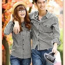 Model Baju Kemeja Couple Lengan Panjang Terbaru