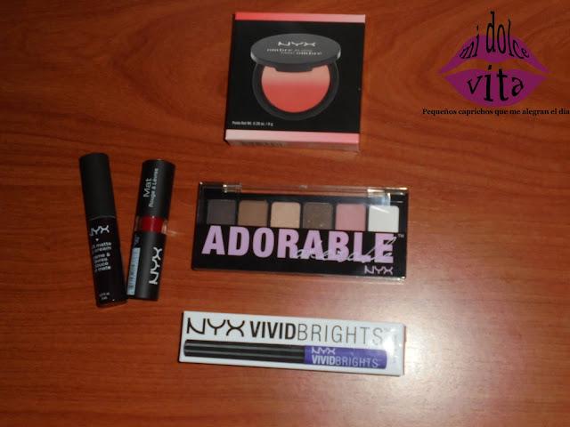 productos nyx cosmetics evento