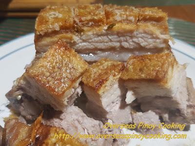 Lechon sa Oven Inasal Style - Chopped