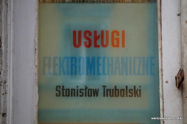 usługi mechaniczne Warszawa Warsaw tabliczka retro
