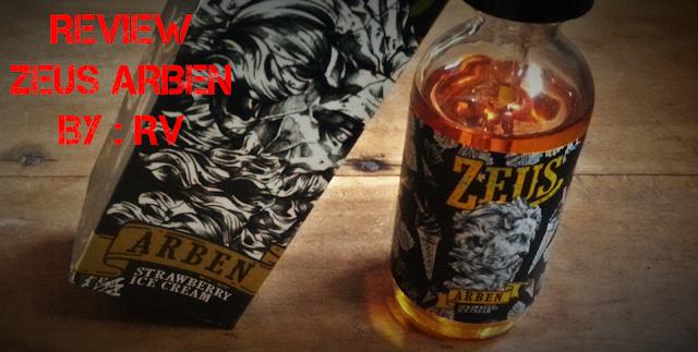 Review Liquid Zeus Arben by RV, Strawberry Ice Cream Lokal Terbaik