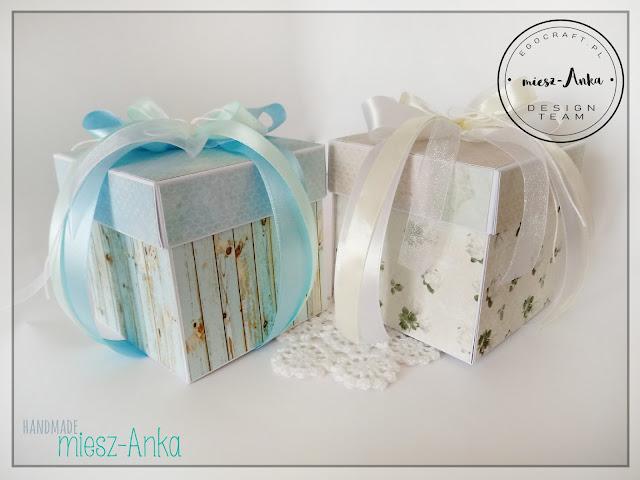 Pudełka exploding box na ślub