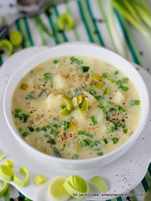 zupa jarzynowa zaprawiana serkami topionymi, zupa z ziemniakow i pora, kartoflanka z porem i serkami, jak zrobic pyszna zupe, rozgrzewajaca zupa, zupy domowe