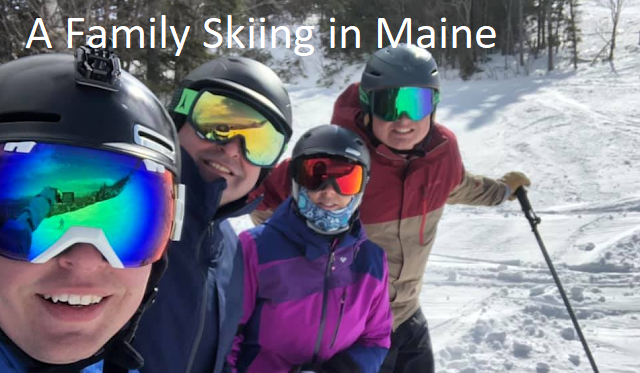 A Family Skiing in Maine