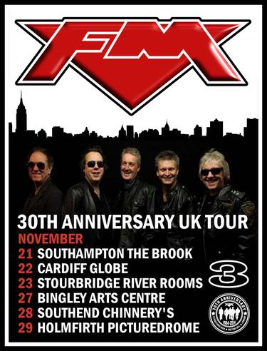 FM 30th Anniversary Tour Dates poster