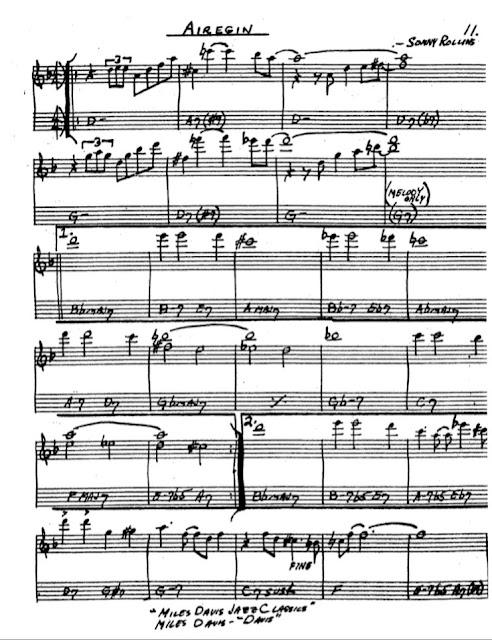 Partitura Saxofón Sonny Rollins