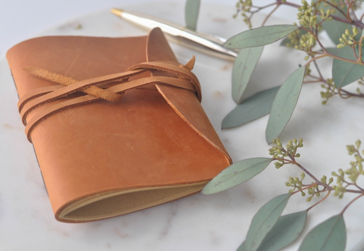DIY Leather Notebook, a thoughtful gift for christmas