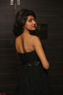 Shalu Chourasiya in spicy Sleeveless Strapless Black Top at O Pilla Nee Valla Movie Audio Launch Feb 2017 047.JPG