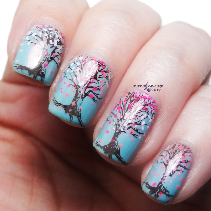 xoxoJen's swatch of Girly Bits Stump Up the Jam stamping art
