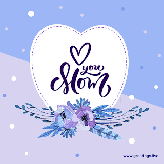 happy mothers day wishes Hand painted flowers greetings card