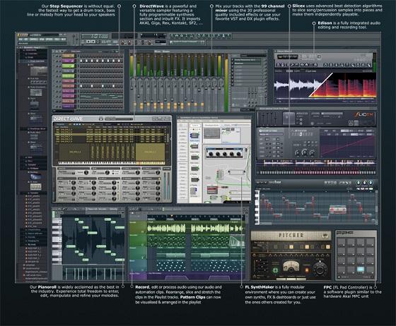 برنامج FL Studio لتعديل الصوتيات بإحترافية