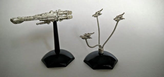 Jovian Chronicles Fleet Scale Lancer and Thunderbolt