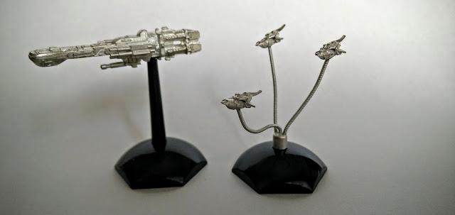 Jovian Chronicles Fleet Scale Lancer and Thunderbolt