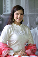 Mannara Chopra in Silky White Salwar Suit with Pink Chunni Latest Exclusive Pics March 2017 ~  015.JPG