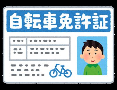 自転車免許証のイラスト(男性)