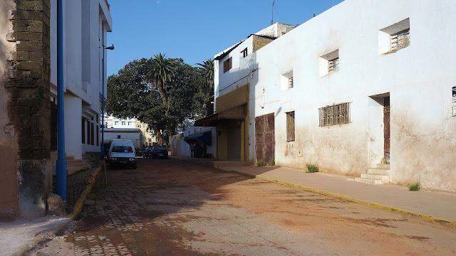 Изображение одной из улиц в городе Касабланка
