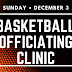MABO Officials Basketball Clinic Announced for Dec 3 in Russell, MB for Ages 18+