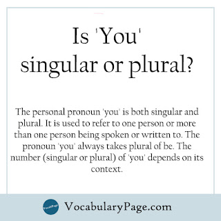 Is you singular or plural?