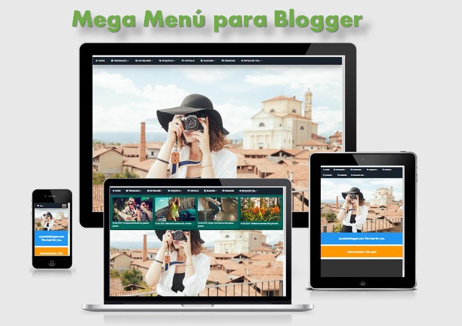 Mega Menú para Blogger